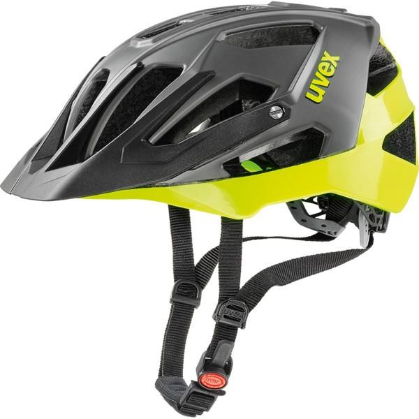 UVEX QUATRO, BLACK NEON-LIME 2017 53-57 cm