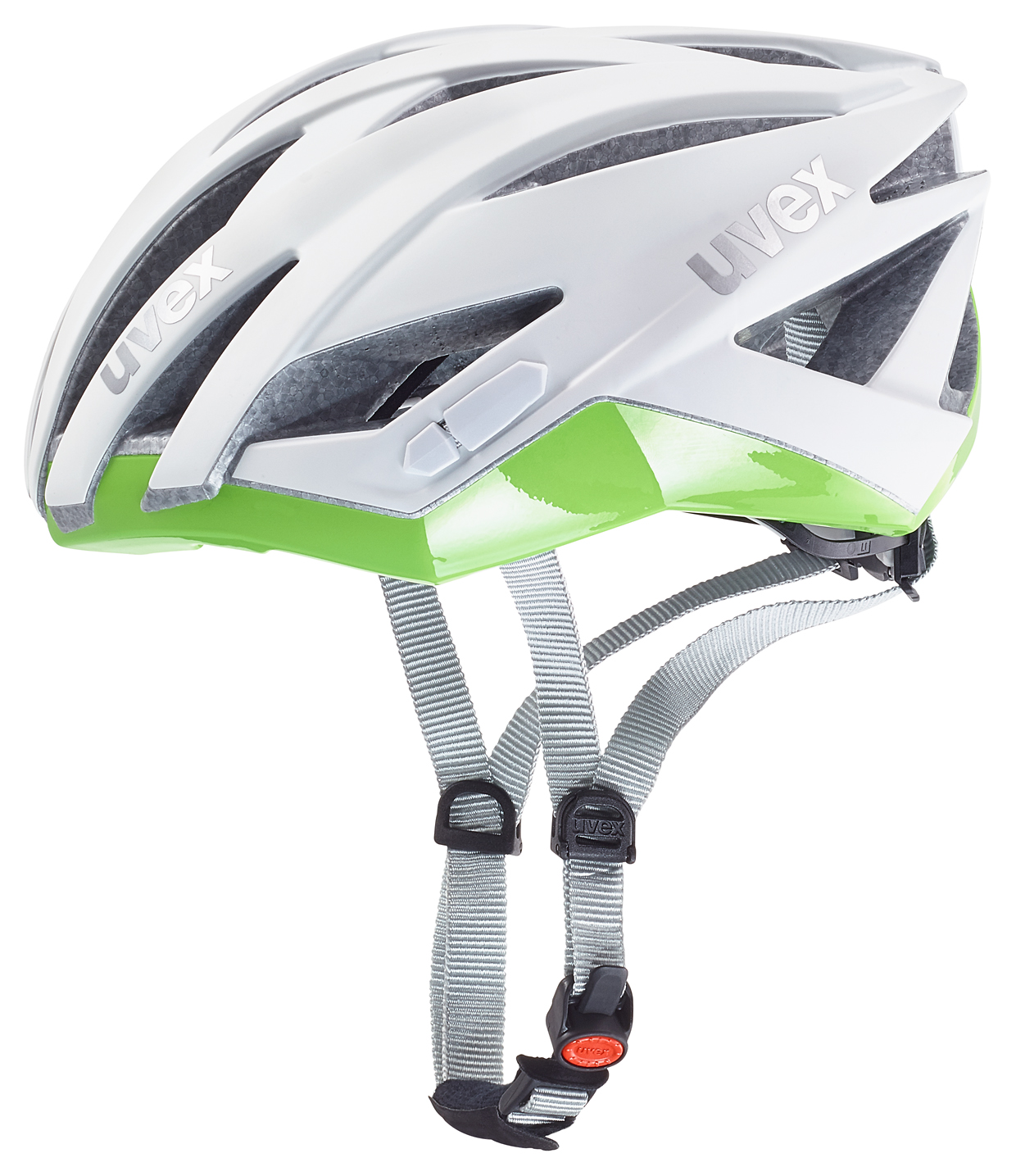 UVEX ULTRASONIC RACE LADY, WHITE MAT-GREEN 2016 55-58 cm