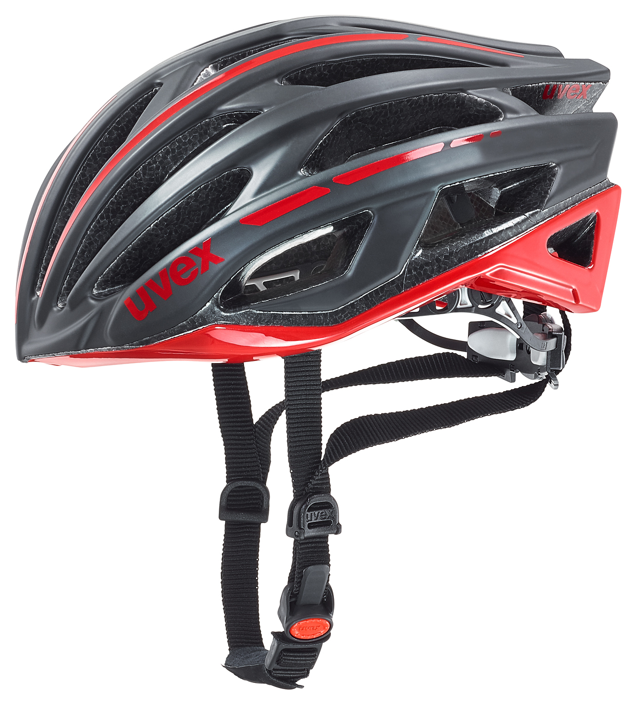 UVEX RACE 5, BLACK MAT-RED 2016 55-58 cm