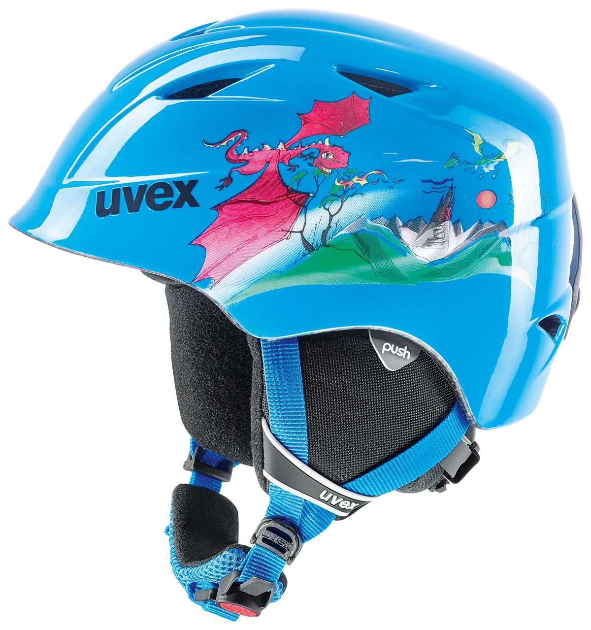 UVEX AIRWING 2 blue dragon S566132460 17/18 48-52 cm