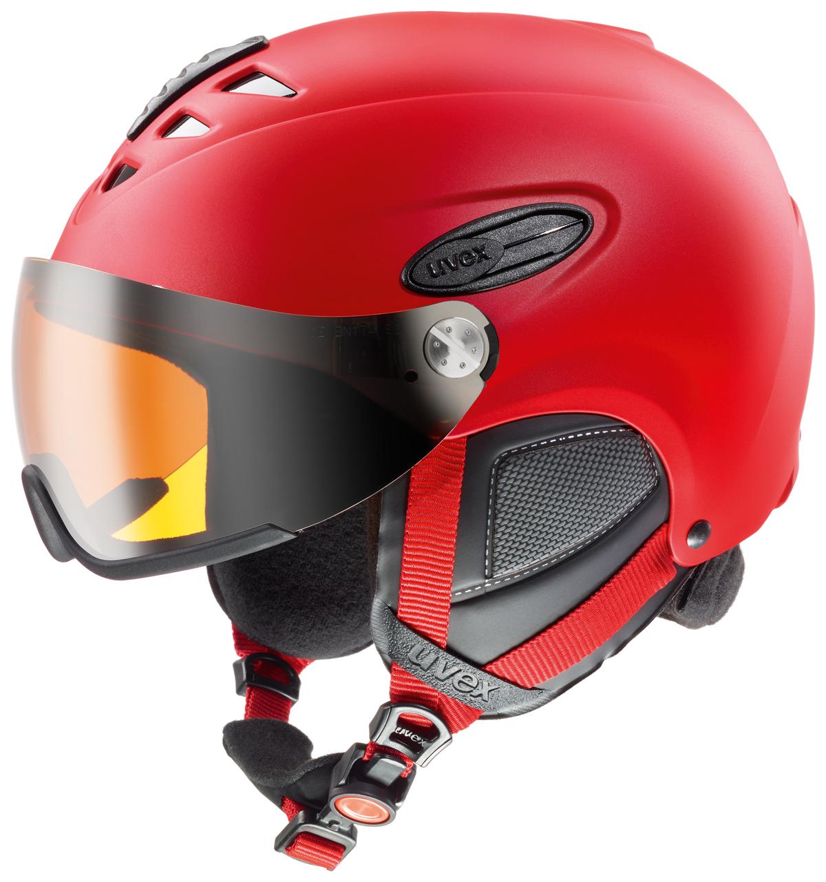 UVEX HLMT 300 VISOR red mat S566162300 17/18 55-58 cm
