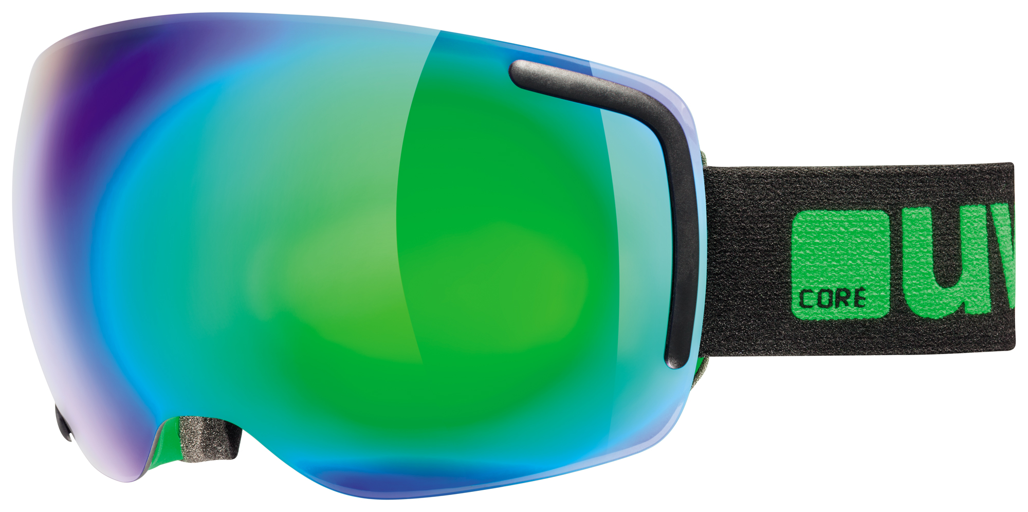 UVEX BIG 40 FM, black-green mat/mirror green S5504412726