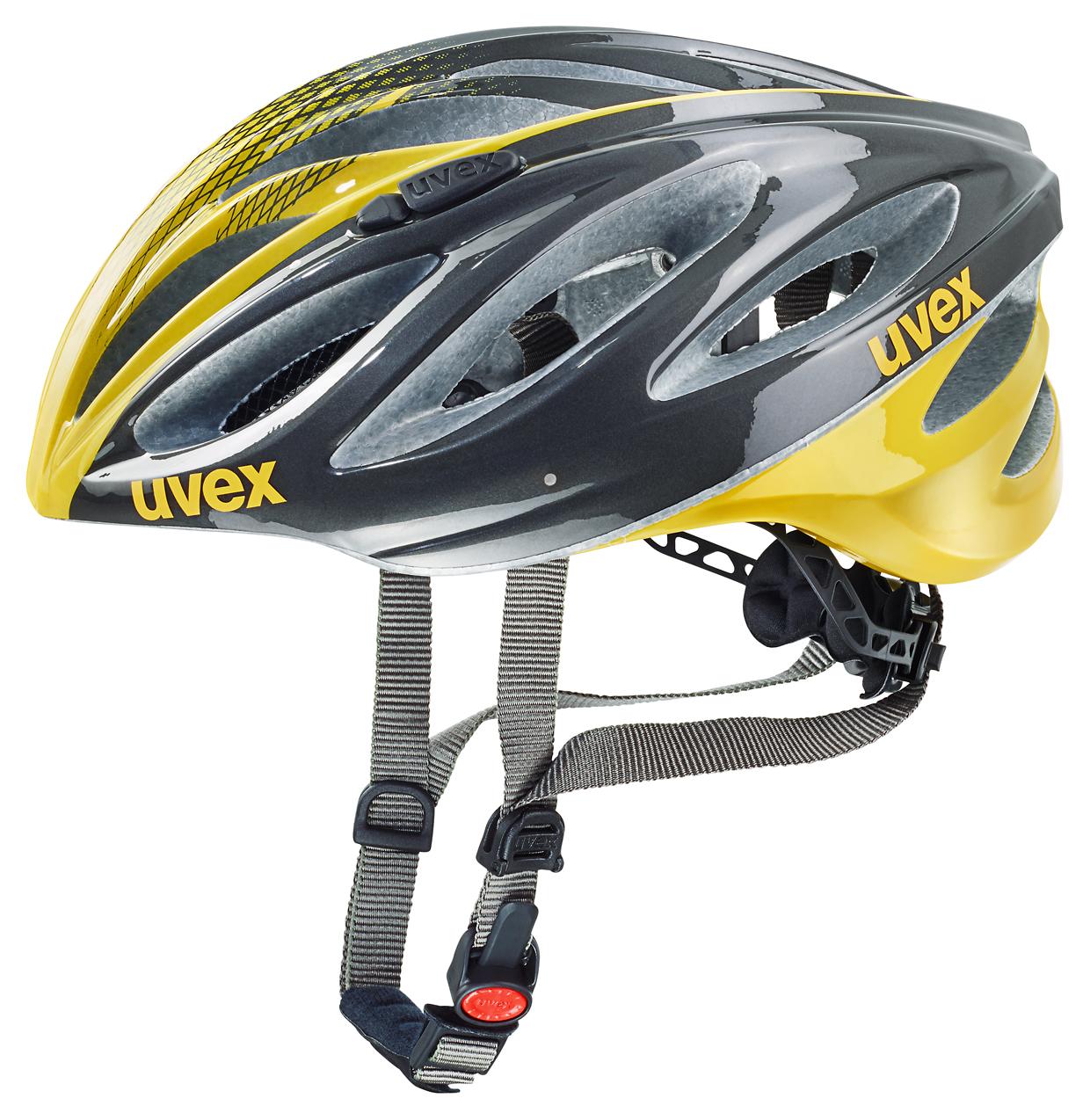 UVEX BOSS RACE, ANTHRACITE-YELLOW 2016 52-56 cm