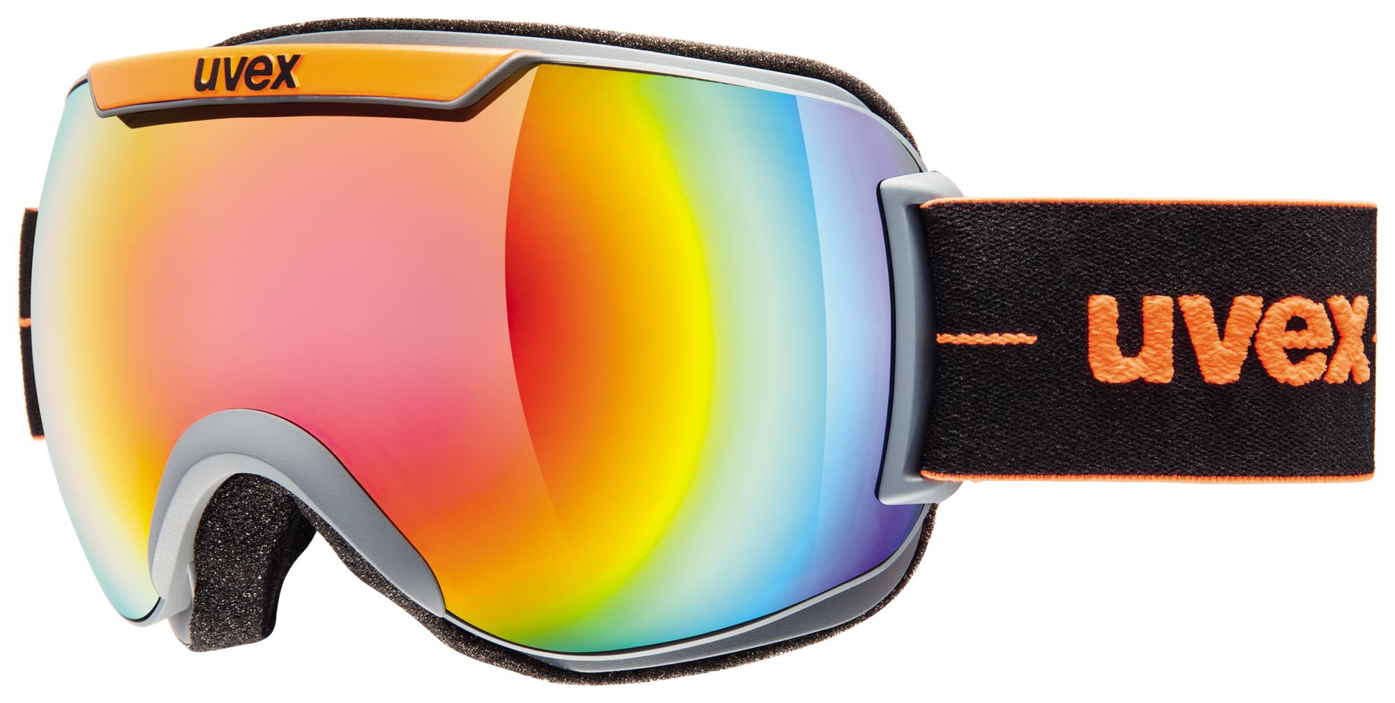 UVEX DOWNHILL 2000, coal-orange mat/rainbow S5501155026
