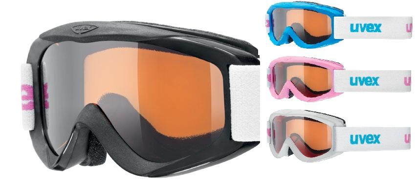 UVEX SNOWY PRO SET, polarwhite/black/iceblue/pink S55S8241312