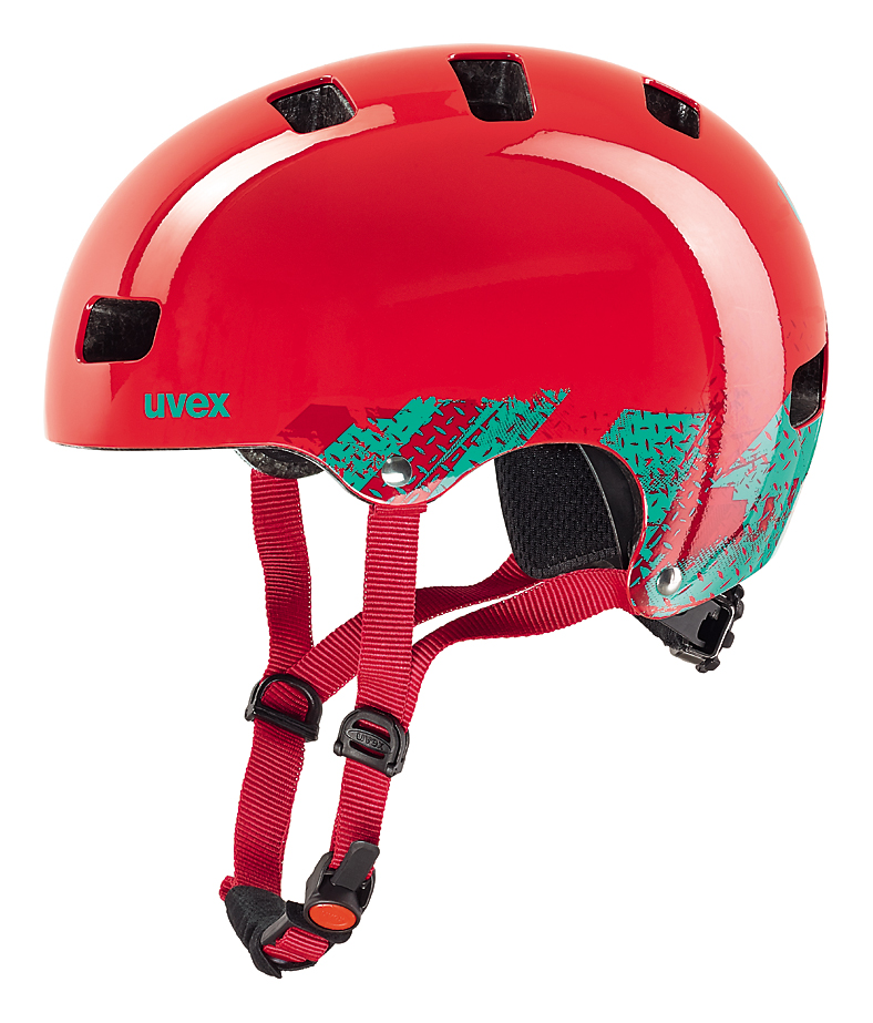 UVEX KID III, BLACKOUT RED 2016 55-58 cm