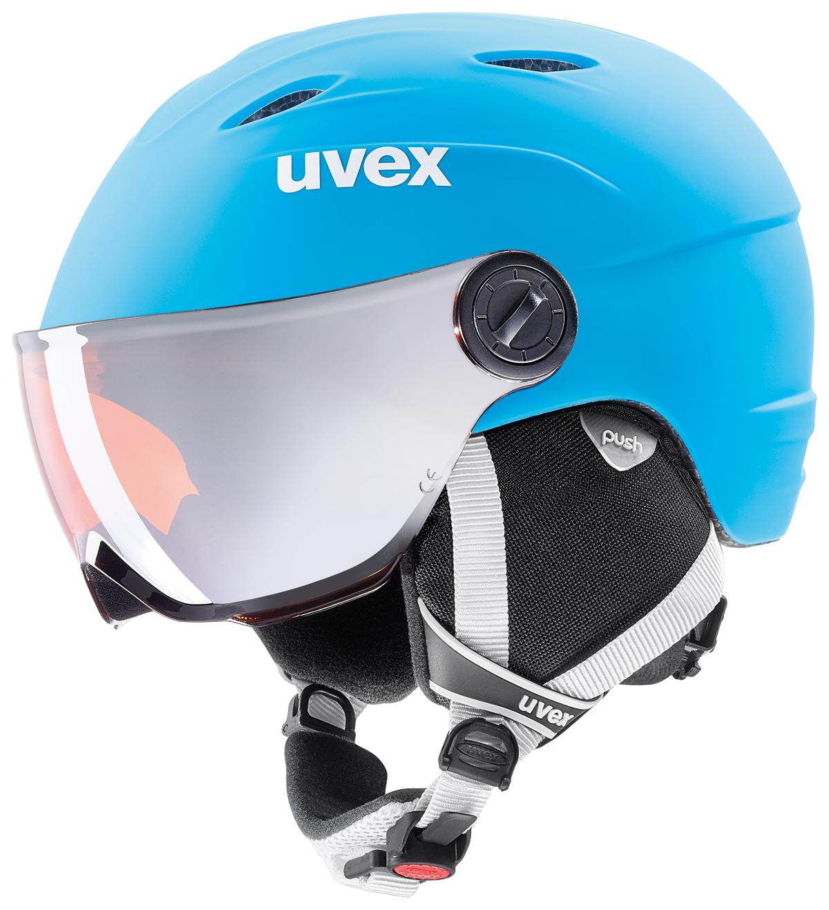 UVEX JUNIOR VISOR PRO liteblue-white mat S566191410 17/18 54-56 cm