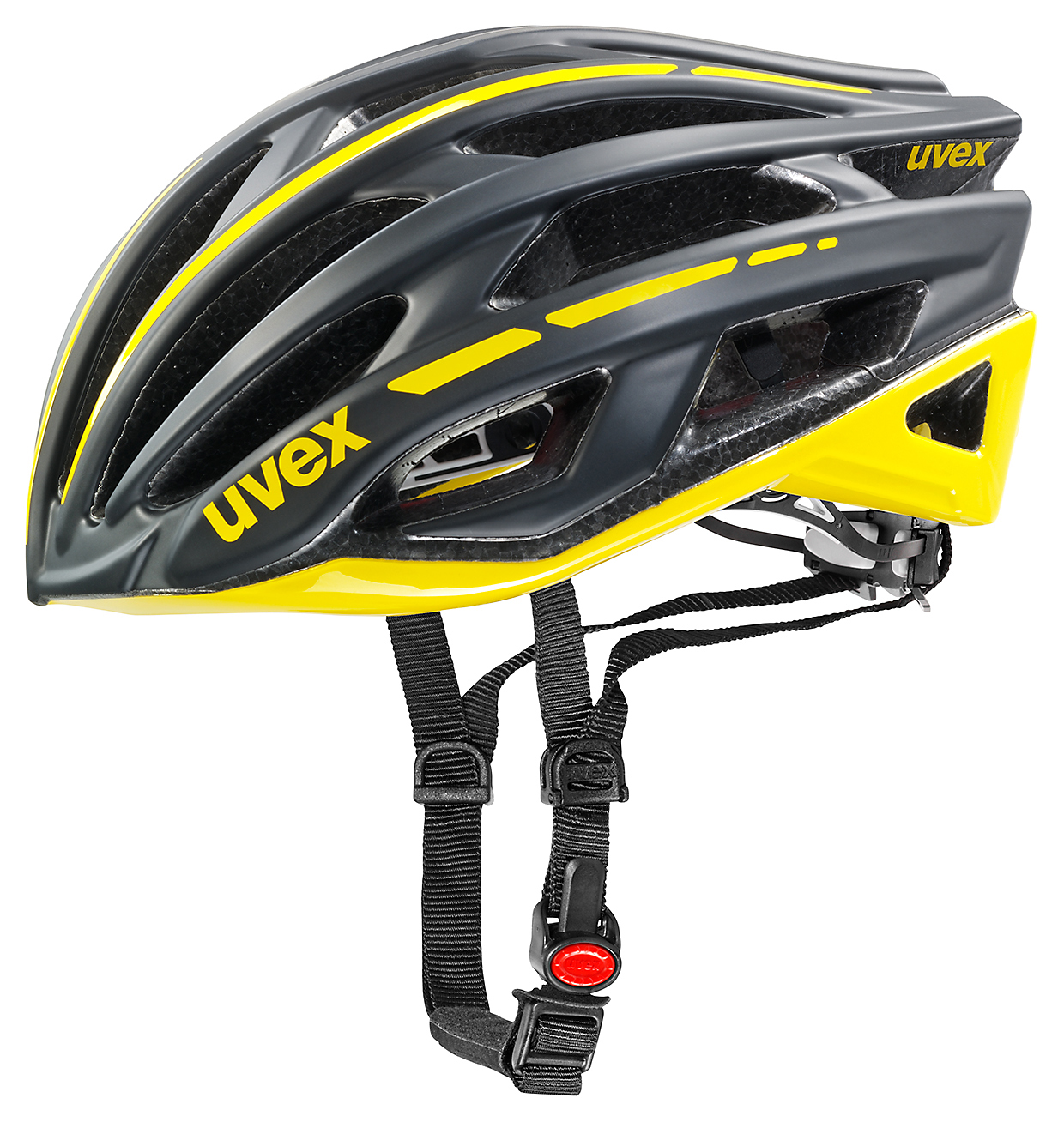 UVEX RACE 5,BLACK MAT/YELLOW 2015 55-58 cm