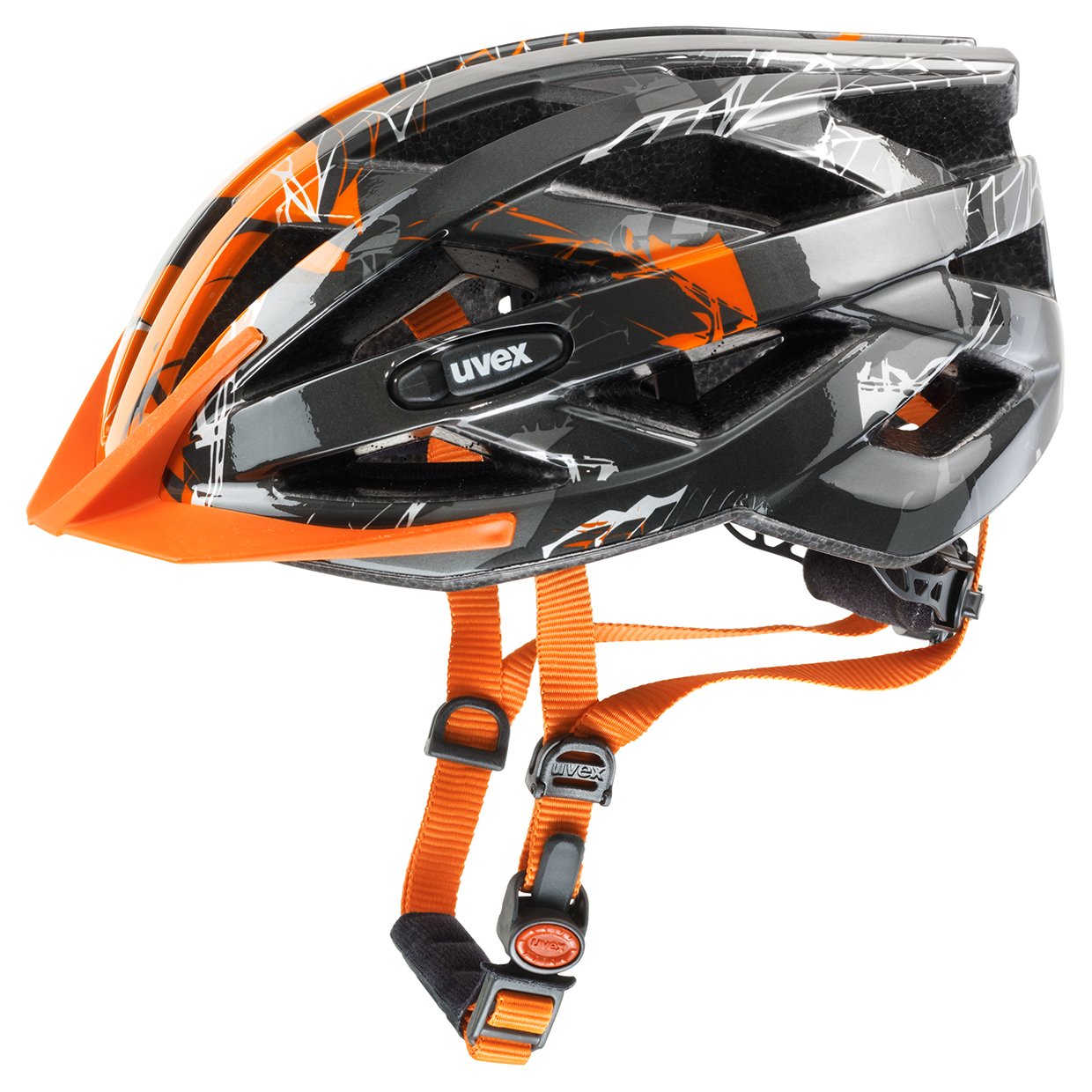 UVEX I-VO C, DARK SILVER-ORANGE 2015 52-56 cm